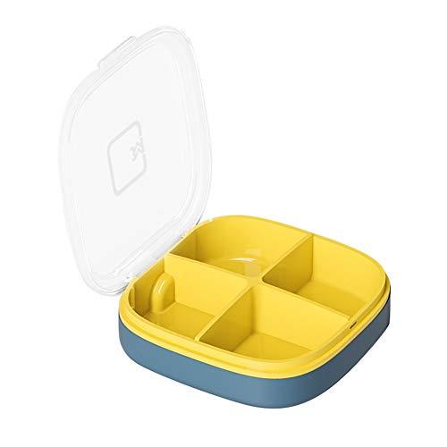 YKL-Organizador de pastillero de capa transparente, caja de pastillero portátil de bolsillo