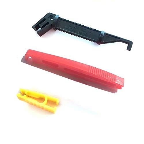 HANBIN Sicherungsclip Kfz-Werkzeug Sicherungsclip-Ausziehwerkzeug für Kfz-Sicherung Black-1PCS,Red-1PCS,Yellow-1PCS