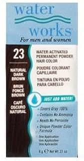 Water Works Permanent Powder Hair Color - #23 Natural Dark Brown 0.2 oz. (Pack of 2)