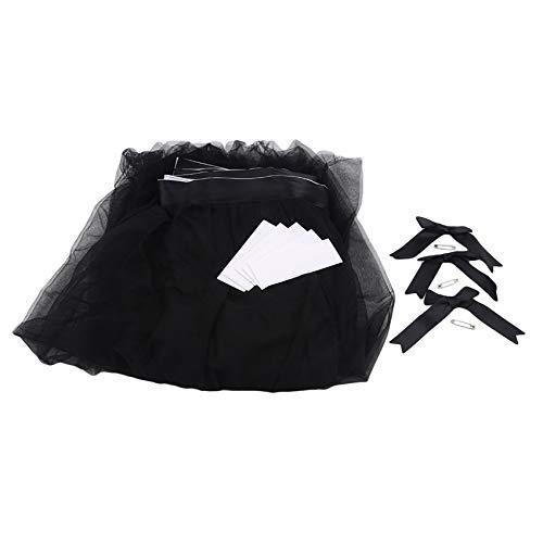 unknow Ristiege - Faldas de mesa rectangulares redondas para decoración de mesa de cumpleaños, tartas, postres, banquetes, color negro