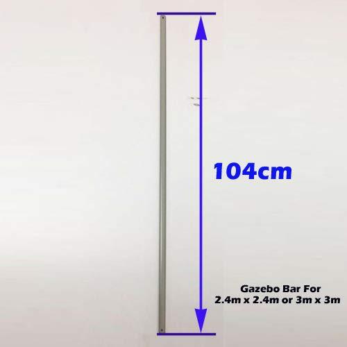 unbeatableoffers Gazebo Replacement/Parts: Metal Strut Gazebo Pole For 2.4m x 2.4m or 3m x 3m (104cm, White)