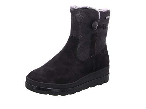Tamaris dames laarzen zwart van leer en textiel maat 37 tot 41