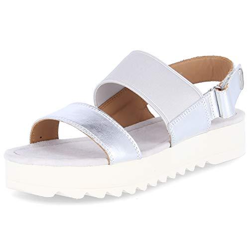 Marc O'Polo Damen Sandaletten Sandalette 903 15251104 137 Silber 657980