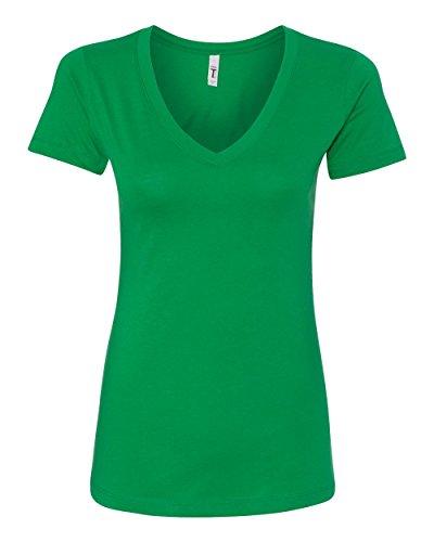 Next Level Women's Lightweight The Ideal V-Neck T-Shirt, Small, Kelly