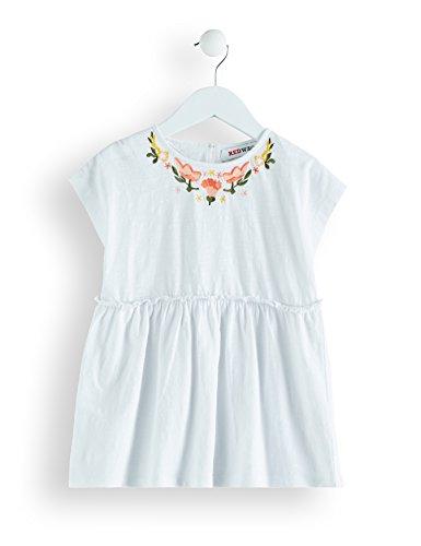 Amazon-Marke: RED WAGON Mädchen Bluse mit Stickereien, Weiß (White), 104, Label:4 Years