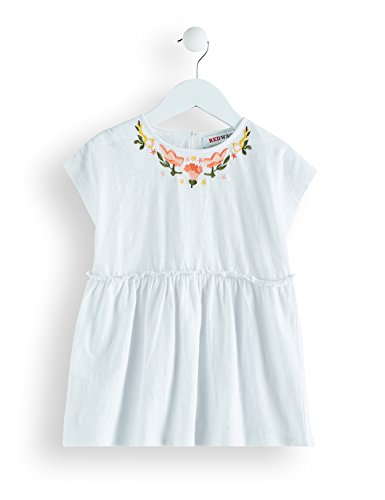 Amazon-Marke: RED WAGON Mädchen Bluse mit Stickereien, Weiß (White), 116, Label:6 Years