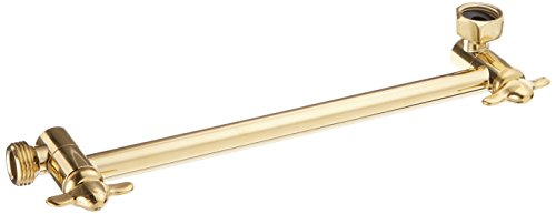 Kingston Brass K153A2 Plumbing Parts 10-Inch Hi-Lo Adjustable Shower Arm, Polished Brass
