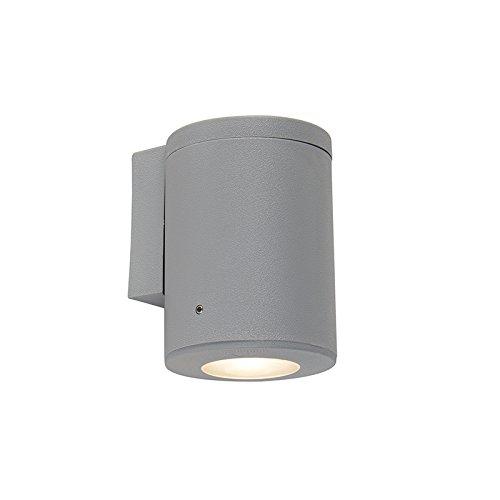QAZQA Moderne wandlamp grijs IP55 incl. 1 x GU10 - Franca Kunststof Rond Geschikt voor LED Max. 1 x 3.5 Watt