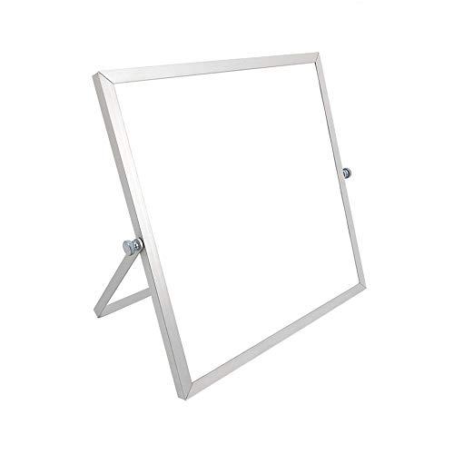 Luqifei Whiteboard Dry Erase Board mit Standplatz-Planer Erinnerung-Board-Desktop Kleiner White Board Hinweis Memo Planer White Board (Color : AS Shown, Size : 25x25X1cm)