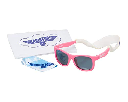 Babiators Set de regalo, gafas de sol y accesorios Pack, Rosa (¡Piensa en Rosa!), Junior