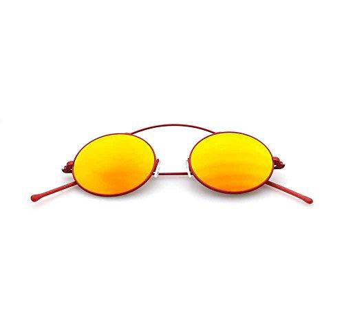 Spektre Met-ro Sonnenbrille Männer Frauen hoher Schutz spiegel gelb Made in Italy