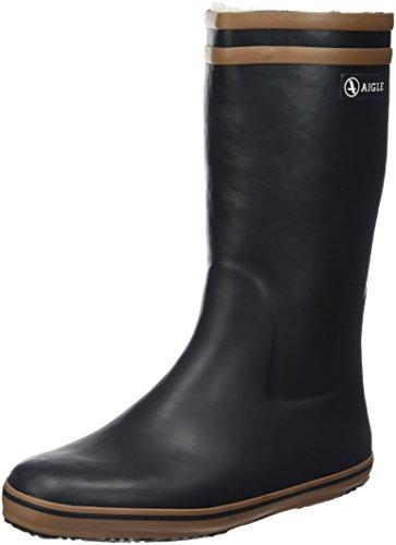 Aigle - Malouine Fur- Bottes de Pluie Femme - Noir (Noir/Camel) - 35 EU
