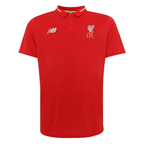 New Balance 2018-2019 Liverpool Elite Essential Polo Football Soccer T-Shirt Camiseta (Red) - Kids