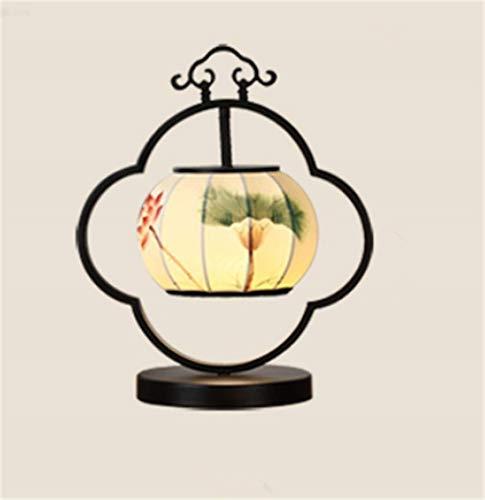 XFSE Moderno Retro Chino Personalidad Creativa de Hierro linternas pintadas a Mano Luces LED lámpara de cabecera, lámpara de Estudio Modelo de decoración de la lámpara E27