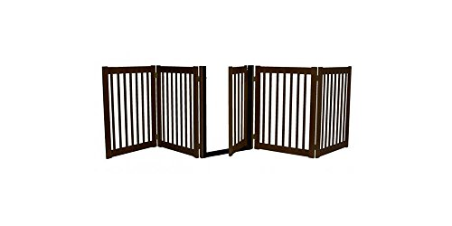Dynamic Accents Freestanding Walk Through Gate 5 Panel Mahogany