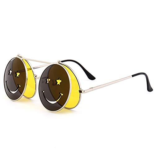 chaonong Klassische polarisierte Sonnenbrille, Ozean-Linse, Flip-Smily-Sonnenbrille (Farbe: B)