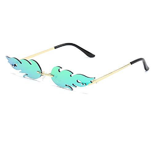 Nobrand Llama gafas de sol reflectantes colores deslumbrantes fuegos artificiales barra de fiesta gafas de sol gafas de metal