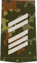 1 paire d'insigne militaire de la Bundeswehr - Camouflage/argent - Dragonne - Insigne - Passant de différents niveaux de service (barre supérieure libérée)