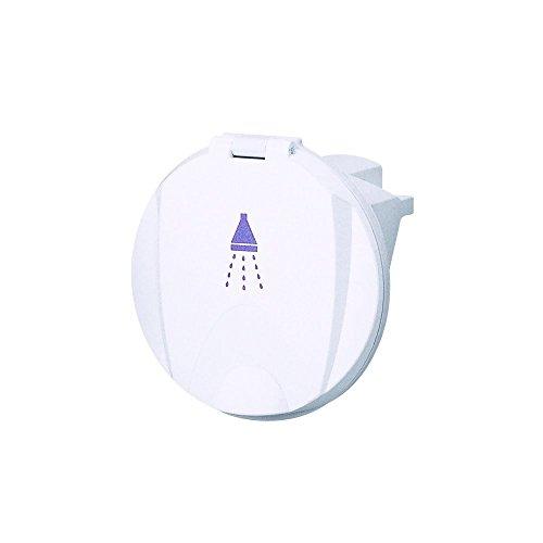 Boitier simple de couleur blanche avec porte avec douchette blanche et 3m de tuyau