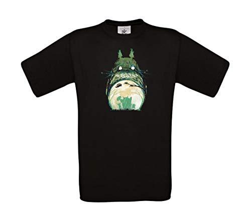 b&c Totoro My Neighbour Totoro Fantasy Anime T-Shirt 100% Baumwolle, Beige Small