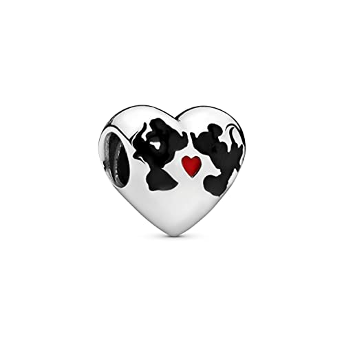 Pandora Moments Disney, Minnie Mouse & Mickey Mouse Kiss Charm Sterling Silber, Emaille 791443ENMX