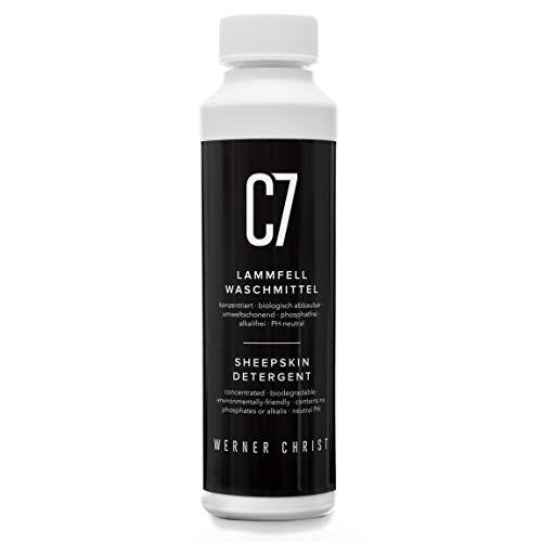 CHRIST Lammfell-Waschmittel C7 Fellwaschmittel geeignet für alle waschbaren Schaffelle und Lammfellartikel sowie Naturfasern, biologisch abbaubar, umweltschonend, 250 ml