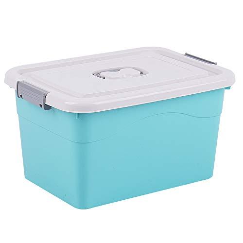 Caja de almacenamiento de plástico, caja de almacenamiento para el hogar, caja de almacenamiento grande, caja de almacenamiento de ropa