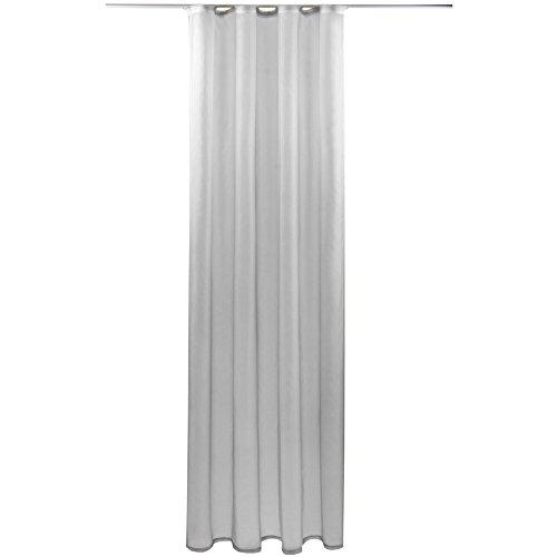 Gardine mit Kräuselband, Transparent Voile 140x145 cm (Breite x Länge) in grau - lichtgrau, viele weitere Farben und Größen