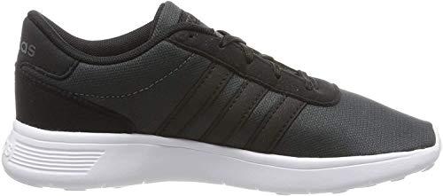 adidas Unisex Kinder LITE Racer K Walking-Schuh, CBLACK/CBLACK/GRESIX, 37 1/3 EU