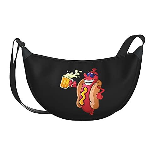 Xiongone Hot Dog Sac à bandoulière réglable pour homme et femme