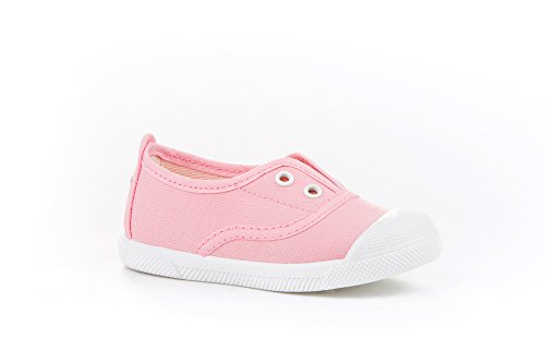 Zapatillas de Lona con Puntera Reforzada para Niños y Niñas, Angelitos mod.124, Calzado infantil Made in Spain, Garantia de Calidad. (23, Rosa)