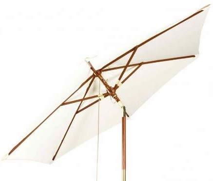 Kai Wiechmann Sonnenschirm Sunshine ø 240 cm, weiß, UV-Schutz 50+  kippbar  Windauslass
