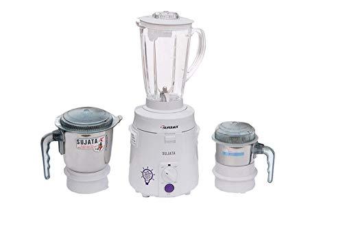Sujata SuperMix SM Mixer Grinder, 900W, 3 Jars (White)