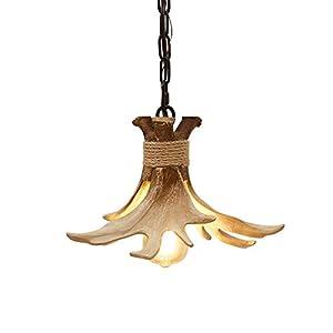 Mini Antler Pendant Lighting Small Farmhouse Hanging Pendant Light Fixtures for Kitchen Island Over Sink Dining Room Bathroom Barn Pendant Light Antler Ceiling Light