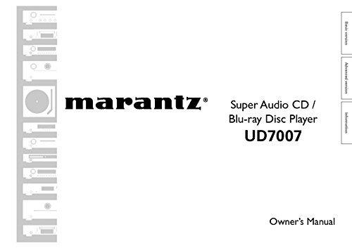 Marantz UD7007 Blu-Ray Player Owners Instruction Manual Reprint [Plastic Comb]