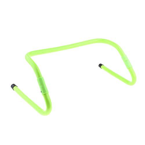sharprepublic Escalera de Velocidad de Obstáculo de Agilidad de Trabajo de Pies ABS para Entrenamiento de Fútbol Ajustable - Verde