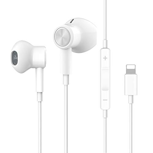 Headphones for iPhone, Stereo Earphones for iPhone 8 Magnetic in-Ear Headphones Wired Earbuds with Mic and Remote Compatible with iPhone 11 Pro Max iPhone X XS Max XR iPhone 8 iPhone 7 Plus