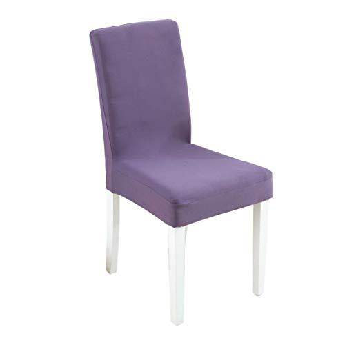 MAIAMY Stuhlabdeckung Einfarbig Polyesterfaser Schonbezüge Stretch Abnehmbare Esszimmerstuhlbezüge Bankettstuhl Protector