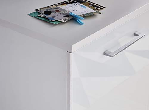 Germania Kommode 3885-84 mit Glasfronten | In Weiss | 97 x 82 x 40 cm