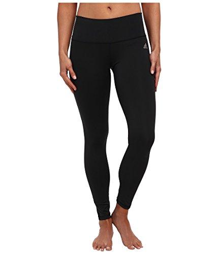 adidas Women's Performer Mid-Rise Long Tight Black/Matte Silver Pants XS