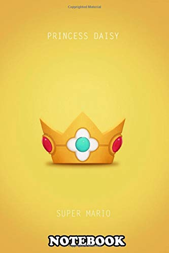 Notebook: Princess Daisy Minimal Poster , Journal for Writing, College Ruled Size 6