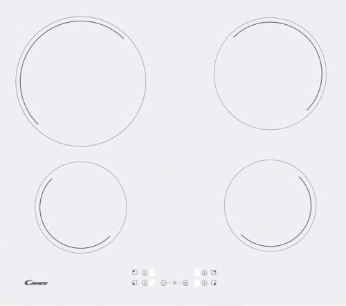 Candy, Cocina de vitrocerámica HiLight de 60 cm, color blanco, sin marco CH64CCW