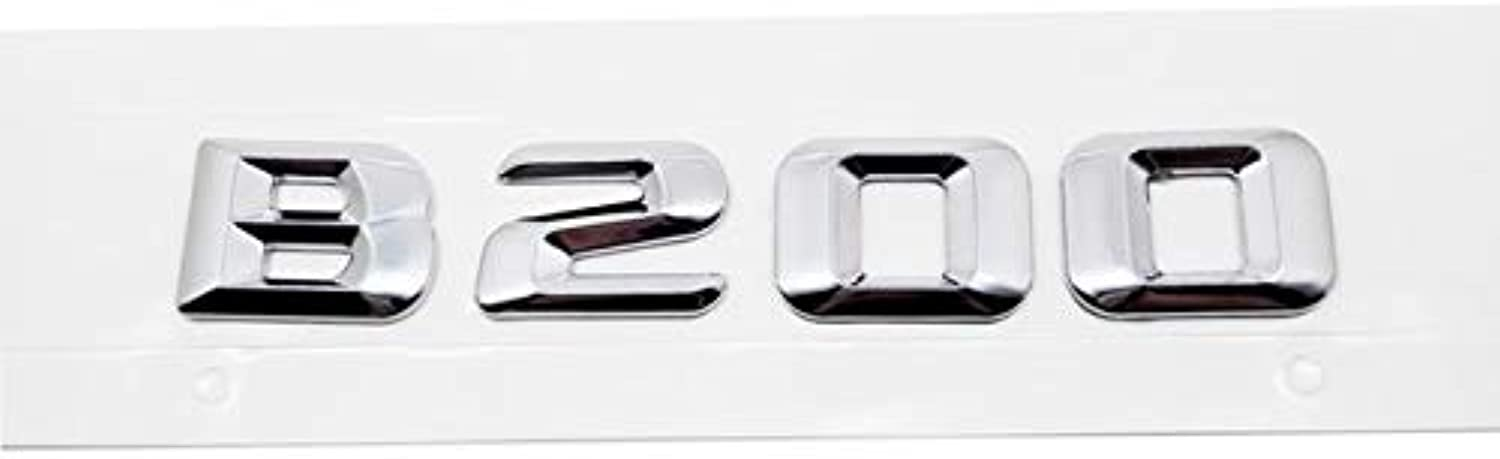 For Mercedes Benz B180 B200 B220 W245 AMG Mercedes B Class Letter Sticker Car Accessories Auto Rear Sticker Emblem Decal  (color Name  B200 Silver Plastic)