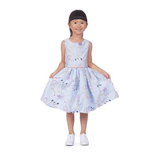 PIPPA & JULIE Lucy Star Embroidered Dress Light Blue