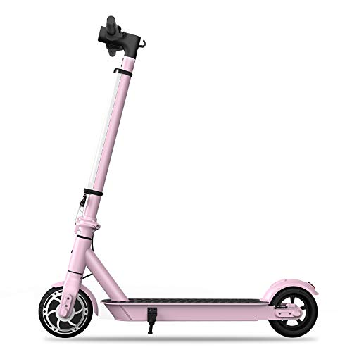 Hiboy S2 Lite Electric Scooter - 6.5' Solid Tires - Up to 10.6 Miles Long-Range & 13 MPH Portable Folding Commuting Scooter for Teens/ Adults (Sakura Pink)