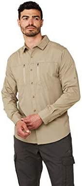 Hombre Craghoppers Kiwi Boulder Camisa de Manga Larga