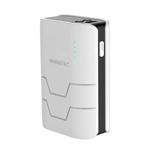 NINETEC NT-573 5.400mAh Powerbank Schwarz Dual USB Portables Ladegerät