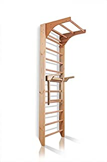 Dani Active Wall Bars with Dip Bars CM-01-220, 87 in Wooden Swedish Ladder Set: Adjustable Pull Up and Dip Bars for Training and Physical Therapy - Used in Homes, Gyms, Clinic, and Schools