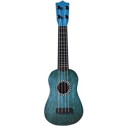 JiaLG 17 Pulgadas Ukulele Spring Soprano Guitarra Rosewood 4 Cuerdas Hawaiian Combo Ukulele Instrumento Musical Educación Juguetes para niños (Color : Blue)