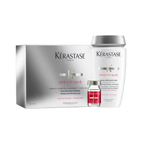 KERASTASE AMINEXIL 42 AMPOLLAS + CHAMPU PREVENTION 250 ML + NECESER DE...